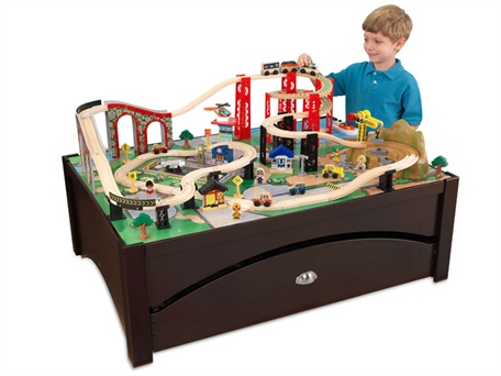 sc 1 st  Life at Warp Speed - WordPress.com & KidKraft Train Table u0026 Train Set u2013 Today only! | Life at Warp Speed